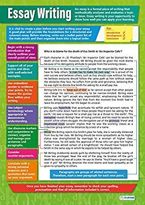 Amazon Com Essay Writing Poster English Language Chart For All