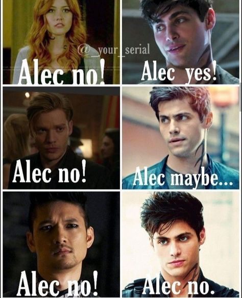 Alec listens to no one. He partly listens to his Parabatai to but fully listens to his boyfriend Alec listens to no one. He partly listens to his Parabatai to but fully listens to his boyfriend Shadowhunters Malec, Shadowhunters The Mortal Instruments, Clace, Jace Wayland, Alec Lightwood, Catching Fire, Shadow Hunters Cast, Clary Et Jace, Clary Fray
