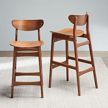 Available In Two Heights Our Solid Wood Classic Cafe Stool Has An
