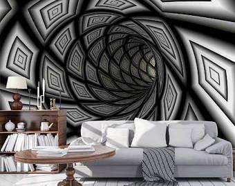 3d Geometry Wallpaper 3d Wall Sticker Wall Decor Peel And