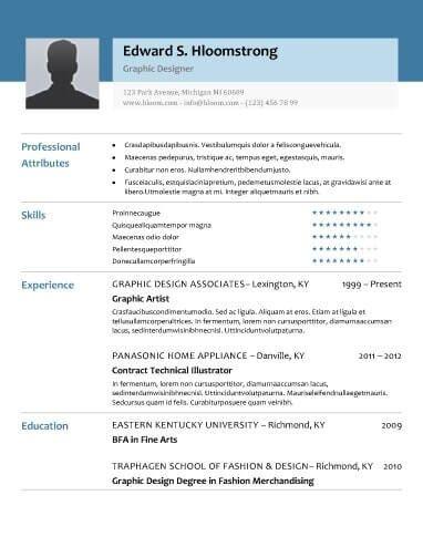 8 Free Openoffice Resume Templates Ott Format Hloom Modern Resume Template Resume Template Examples Modern Resume