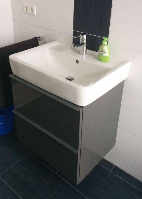 Renova Plan 1 65er Becken mit Ikea Unterschrank | Badezimmer ...