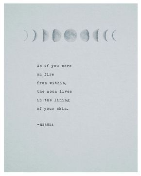 Pablo Neruda Poetry Print Typography Poster by Riverwaystudios