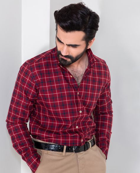 Mens Checkered Shirts Online - Brumano Menswear