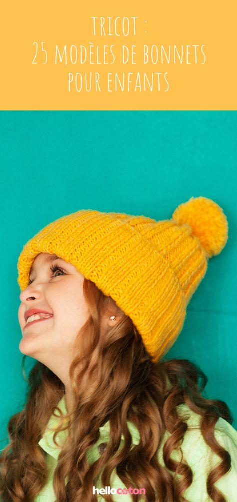 27491fd5c38 Tricot   25 modèles de bonnets à tricoter pour enfants !  tricots  bonnets   tricotenfant  enfants  hiver