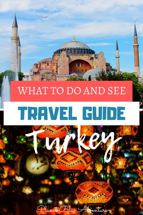 In this travel guide you'll discover what to do in Turkey. Travel across Turkey and see the best this country has to offer. - Planet Blue Adventure #Turkey #Turkeytravel #travelguide