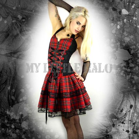 Red Black Tartan Corset Dress My Dream Wardrobe Pinterest Gothic Pictures And Corsets