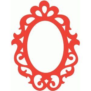 Silhouette Design Store: ornate frame