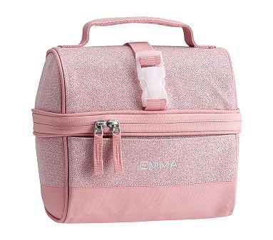 Mackenzie Pink Sparkle Glitter Lunch Boxes Lunch Box Pack Lunch Bags Pink Sparkle