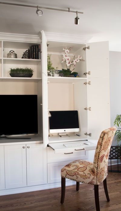 Types Of Hidden Desks Desk Wall Unit Desk In Living Room Built In Wall Units