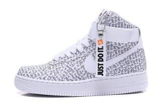 Nike Air Force 1 High Lx Just Do It White Black Total Orange