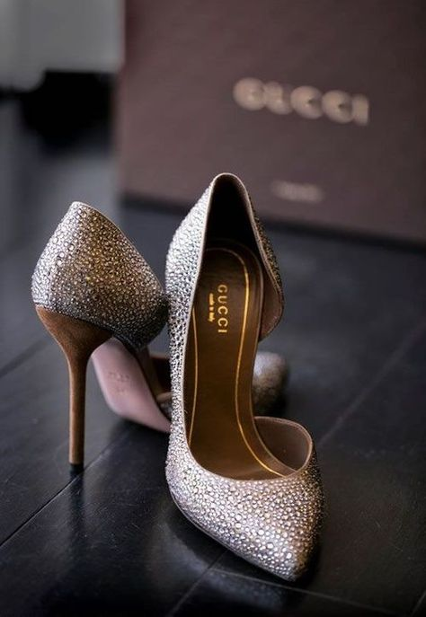 Gucci 'Noah' Crystal d'Orsay Pump | Chris Schmitt Photography.