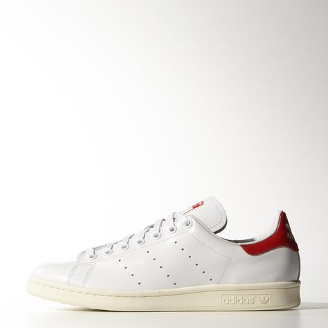 b13ee7f6378 adidas stan smith white red