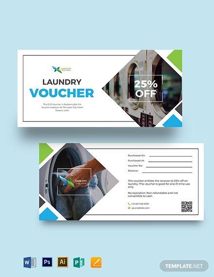 Hotel Laundry Voucher Voucher Design Voucher Templates