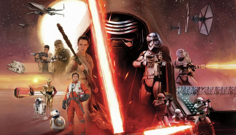 Star Wars: The Force Awakens Spray and Stick Wallpaper Mural - Mural