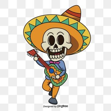Dia De Muertos Cartoon Logo Creative Graphic Design Free Graphic Design