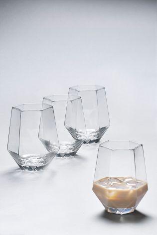 Buy Set Of 4 Angular Tumbler Glasses from the Next UK online