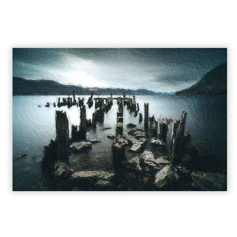 17 Stories 'Remains of a Jetty in Loch Ness' Painting | Wayfair.co.uk