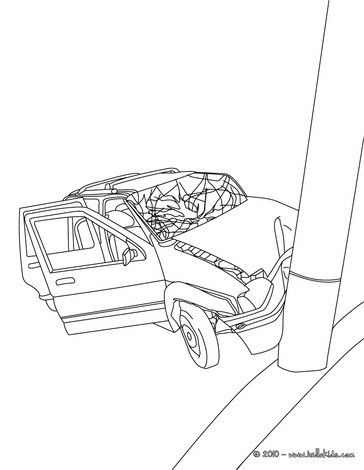 Car Crash Coloring Pages Hellokids Com Coloring Pages Cars