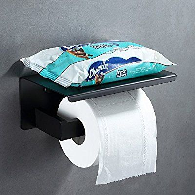Amazon Com Bathroom Tissue Holder With Shelf Angle Simple Sus304 Stainless Steel Toilet Pap Toilet Paper Holder Toilet Paper Dispenser Black Toilet