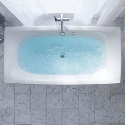 Top Down View Of A White Bathtub Filled With Water Air Tub Whirlpool Tub Air Jet Tubs
