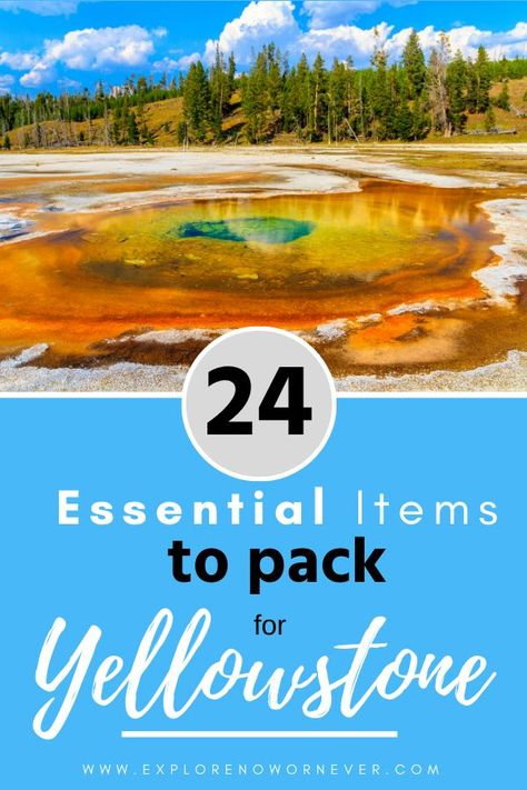 Visit Yellowstone, Yellowstone Vacation, Yellowstone National Park, Wyoming Vacation, National Parks Usa, Grand Teton National Park, Road Trip Packing, Packing Lists, Europe Packing