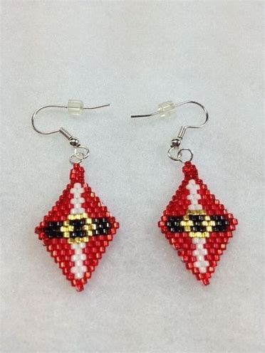 Image Result For Free Brick Stitch Earring Patterns Beaded