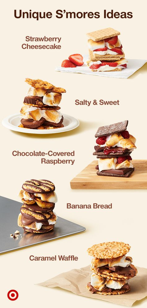 Summer's all about s'mores–those delicious, ooey-gooey treats you can make in a campfire or a kitchen burner. Go for a classic recipe or give it your own twist.