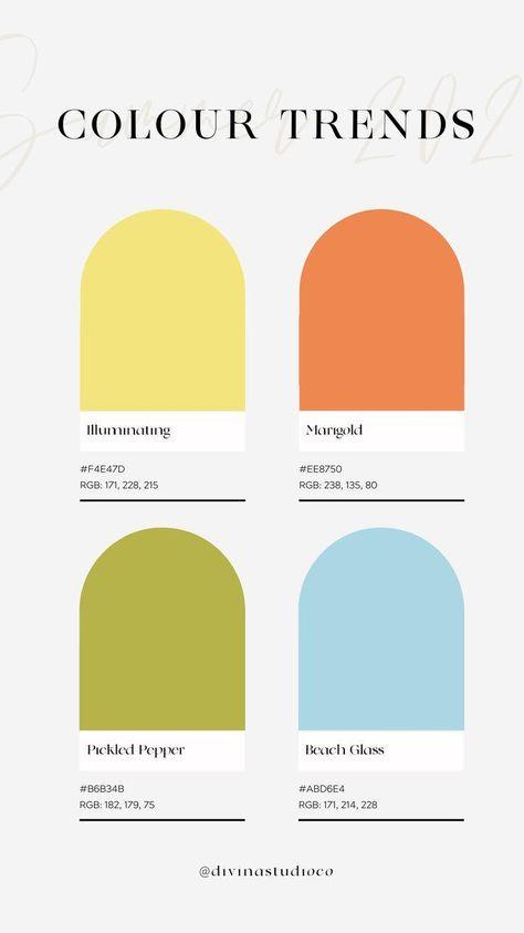 SS21 Color Trends | Color Palette Inspiration | Fashion Inspo Outfits
