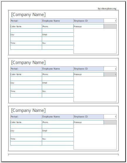 9 Message Slip Templates Templates Excel Templates Messages