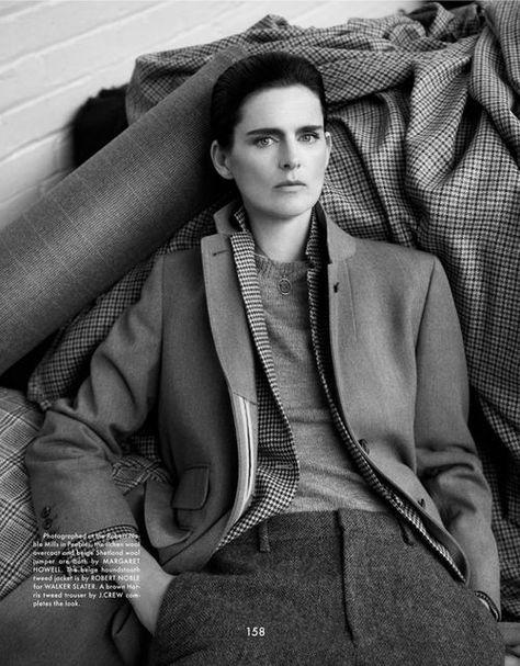 bettinewyork:  The Gentlewoman Fall/Winter 13/14 Model:Stella Tennant Photo: Benjamin AlexanderHair:Charlene WilsonMake-Up:Mathias van Hooff