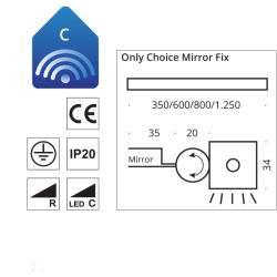 Top Light Only Choice Mirror Fix Spiegelklemmleuchte chrom Top LightTop Light - Modern