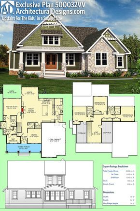 Plan 500032vv Upstairs For The Kids Ii Modern House Plans Exclusive House Plan House Plans