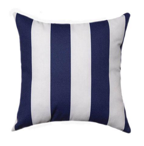 Outdoor Nautical Stripe Throw Pillow Dark Blue Throw Pillow Navy