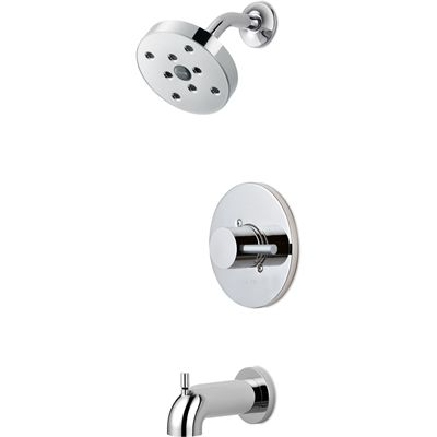 Delta Tub Shower Faucet Set 144694 Struct Chrome 1 Handle Bathtub And Shower Faucet Valve Included Tub Shower Faucets Shower Faucet Sets Shower Faucet
