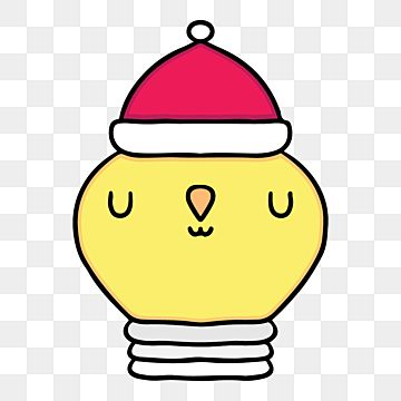 Cartoon Hand Drawn Light Bulb Wearing Santa Hat Holiday Cartoon Cute Png And Vector With Transparent Background For Free Download Holiday Cartoon Christmas Illustration New Years Poster