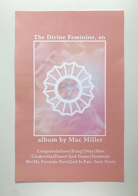 Mac Miller Poster // The Divine Feminine Poster // Divine Feminine Tracklist Pos. - Mac Miller Poster // The Divine Feminine Poster // Divine Feminine Tracklist Poster Poster Wall, Poster Prints, Posters, Mac Miller Quotes, Mac Miller Tattoos, Cat Valentine Victorious, Ariana Grande Facts, Piercings, Sam And Cat