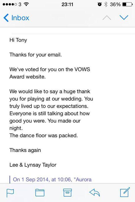 Vows awards wedding bands