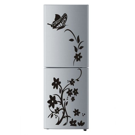 Balleenshiny Refrigerateur Autocollant Papillon Motif Stickers