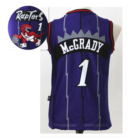 kids  Toronto  Raptors  Purple  Throwback  Basketball  Jersey  1  Tracy   McGrady 324644aa4