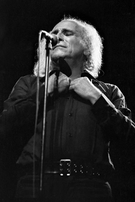 Leo Ferré (1916-1993) - Monegasque poet, composer and a dynamic and controversial live performer whose career in France dominated the years after the Second World War until his death.  Photo Jean-Claude Deutsch, 1972 (L'Olympia, Paris)