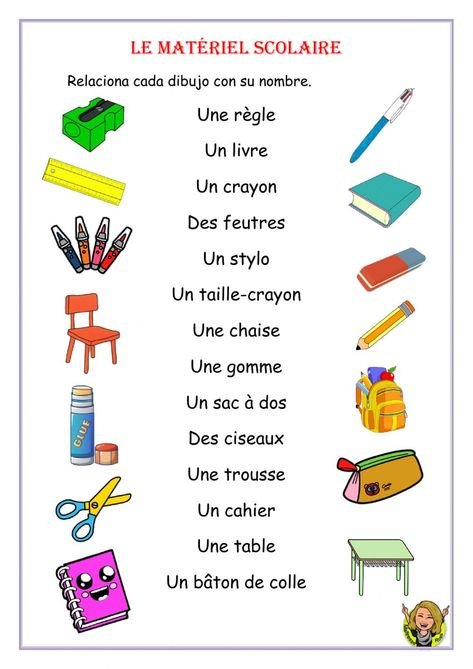 Le matériel scolaire interactive worksheet for Quinto de Primaria. You can do the exercises online or download the worksheet as pdf.