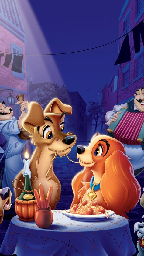 Lady and the Tramp (1955) Phone Wallpaper | Moviemania