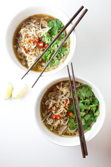 Slow Cooker Beef Pho | Sidewalk Shoes