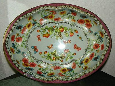 Daher Decorated Ware Tray Made In England Daher Decorated Ware Fruit Flowers Tin Oval Tray Long Island Ny