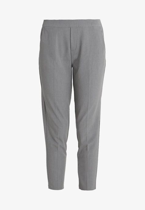 Object OBJCECILIE PANTS - Pantalon classique - medium grey melange -  ZALANDO.FR 8766247d6d7b