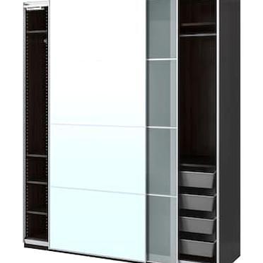 Pax Wardrobe White Mehamn Ikea In 2020 Tall Cabinet Storage Locker Storage Pax Wardrobe