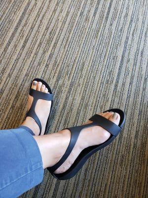 Crocs Womens Black Serena Sandals Shoes