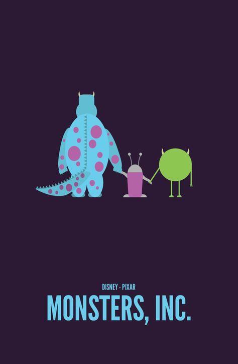 Pixar Movies — Monsters, Inc. Minimalist Poster :) -He