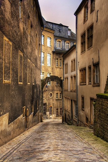 Luxemburg city, we found awesome small restaurants hidden in these side streets